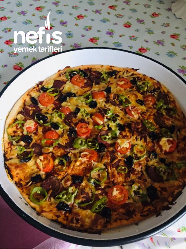 Dominos Pizza Gerçek Hamur Büyük Boy Nefis Yemek Tarifleri