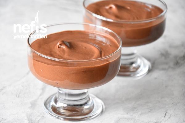 Sadece 2 Malzeme İle Çikolatalı Mus (video İle)