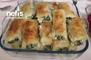 Baklavalık Yufka İle Ispanaklı Peynirli Enfes Börek Tarifi