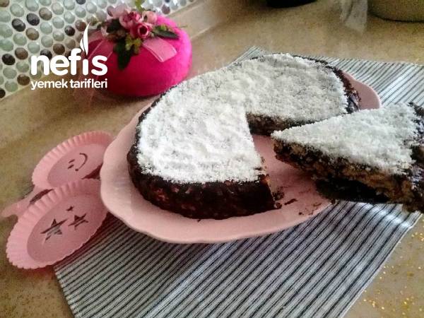 Gelin Duvağı Mozaik Pasta(3 Malzemeli)