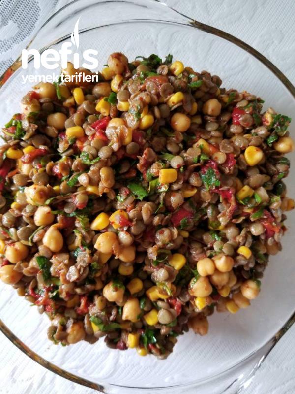Nohutlu, Mercimekli Gün Salatası