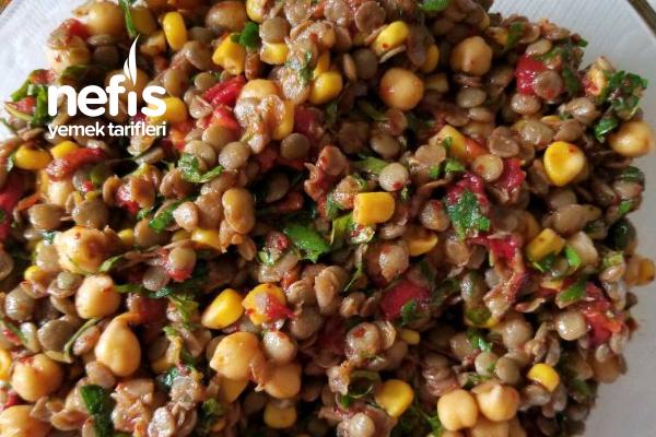 Nohutlu, Mercimekli Gün Salatası Tarifi