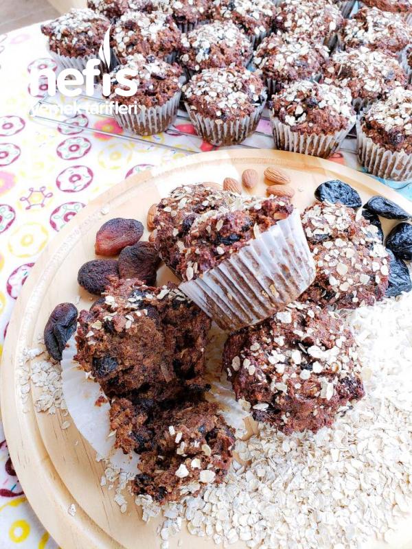 Şekersiz Kuru Meyveli Muffin