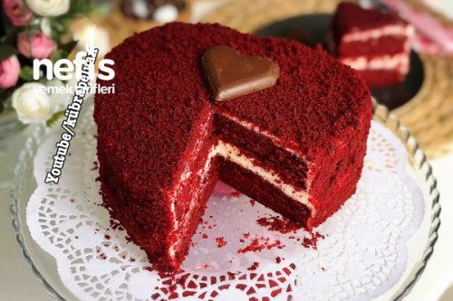 Bu Pasta Aşk Tazeletir/Red Velvet Cake/Kırmızı Kadife Pasta (Videolu) Tarifi