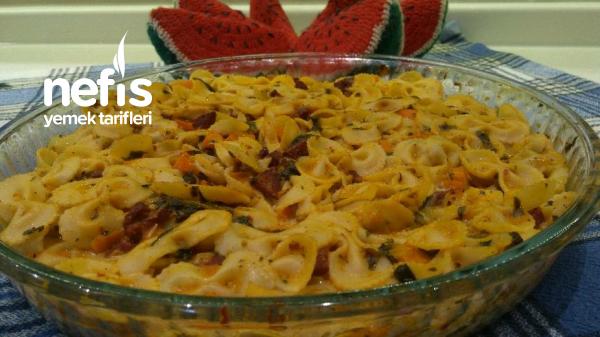 İtalyan Usulü Fırında Sebzeli Makarna