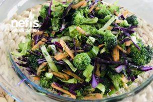 Renkli Kış Salatası (Brokolili) Tarifi