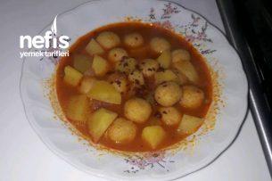 Bulgur Köfteli Patates Yemeği Tarifi