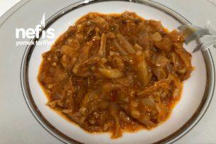 Kapuska Yemeği (Acılı Az Kıymalı) Tarifi