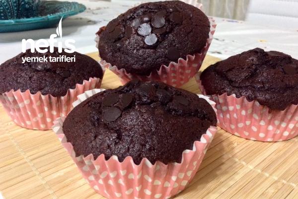 Yumuşacık Çikolatalı Sodalı Muffin Tarifi
