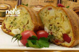 Patatesli Pratik Kahvaltı Keki Tarifi