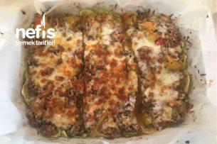 Etli Patatesli Fırında Kabak Yemeği Tarifi