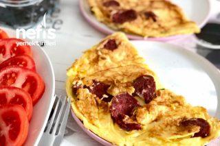 Kahvaltının Tacı Sucuklu Omlet (Kalabalık Aile Tarifi) Resimli Anlatım