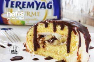 Teremyağlı Çikolata Soslu, Muzlu Rulo Pasta Tarifi