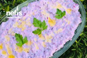 Yoğurtlu Mor Lahana Salatası (Çok Lezzetli) Tarifi