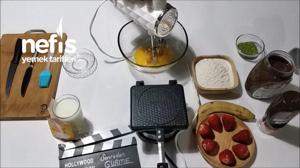 Evde Waffle Nasıl Yapılır? Kolay Waffle Ortaköy Waffle (videolu)