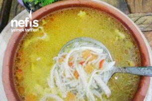 Sebzeli Şehriyeli Tavuk Suyu Çorbası Tarifi