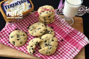 Teremyağlı Soft Chocolate Chip Cookies (Amerikan Kurabiyesi) Tarifi