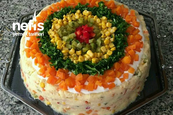 Teremyağlı Patatesli Yoğurt Salatası