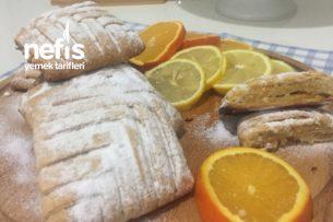Teremyağlı Portakallı Limonlu Mayalı Hamurdan Kurabiye (Rus Mutfağından) Tarifi