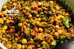 Nohutlu Mercimek Salatası Tarifi