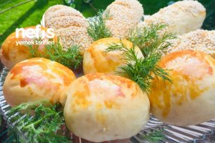 Teremyağlı Gece Mayala Sabah Pişir Poğaça Tarifi