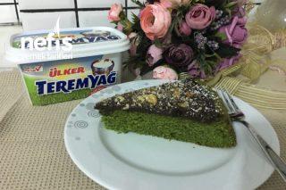 Tart Kalıbında Ispanaklı,Çikolata Soslu Kek Tarifi