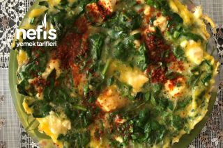 Teremyağlı Ispanaklı Yumurta Tarifi