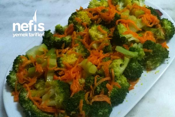 Teremyağlı Sıcak Brokoli Salatası Tarifi