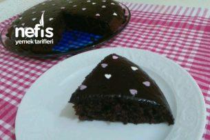 Teremyağlı Tavada Çikolata Soslu Kek Tarifi