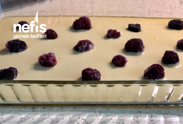 Teremyağlı Böğürtlenli Pasta