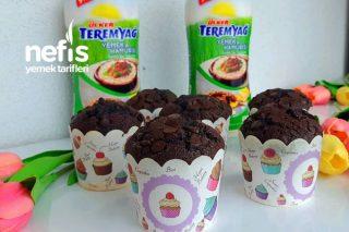 Teremyağlı Çikolatalı Pamuk Muffin Kek Tarifi