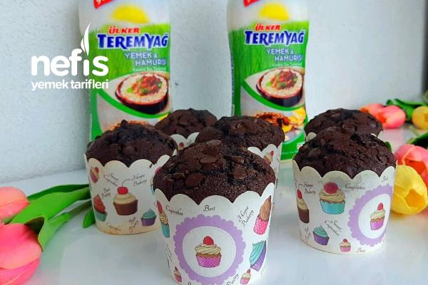 Teremyağlı Çikolatalı Pamuk Muffin Kek