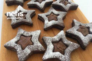 Teremyağlı Çikolatalı Yıldız Kurabiye Tarifi