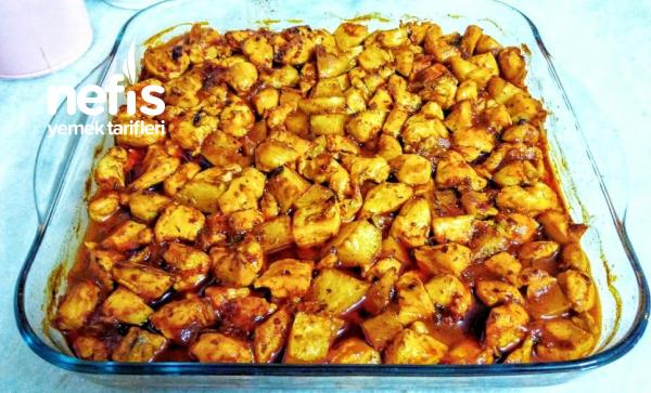 Teremyağlı Fırında Patatesli Tavuk Yemeği