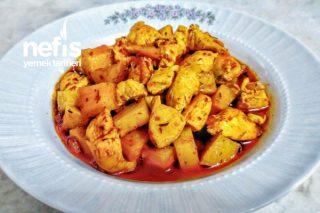Teremyağlı Fırında Patatesli Tavuk Yemeği Tarifi