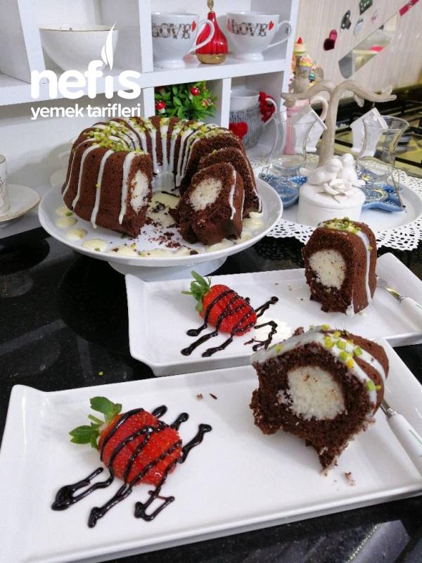 Çaylı Kokostar Kek