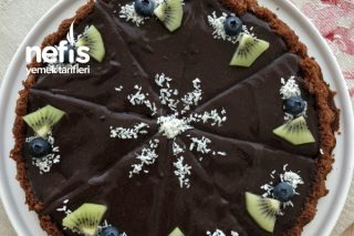 Çikolata Pudingli Kakaolu Tart (Kolay Muhteşem) Tarifi
