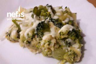 Fırında Peynirli Soslu Nefis Brokoli Tarifi