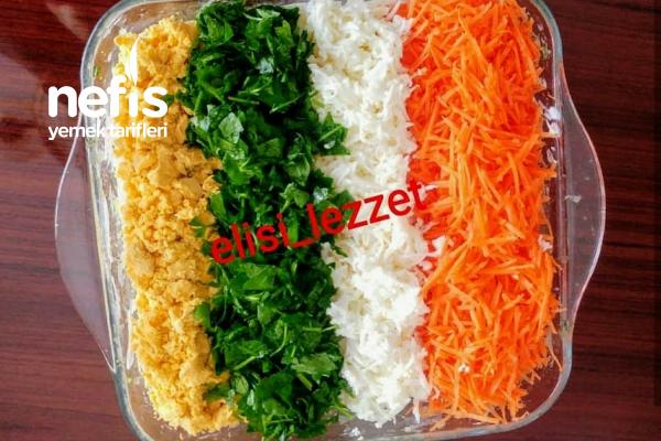 Teremyağlı Renkli Patates Salatası Tarifi