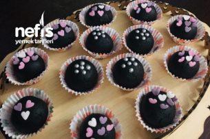 Ev Yapımı Kek Ve Ev Yapımı Çikolata Sosu İle Sağlıklı Truf Tarifi