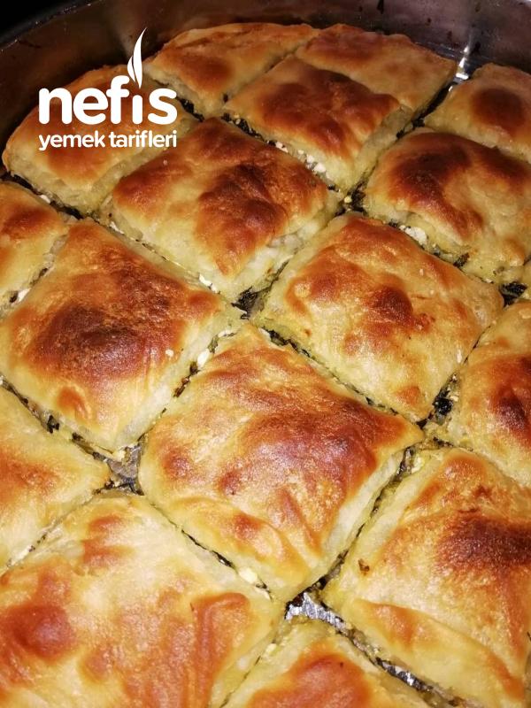 Teremyağlı El Açması Ispanaklı Börek (miss Gibi:))