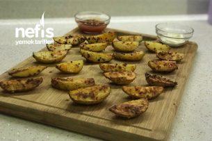 Fırında Susamlı Elma Dilimi Patates Tarifi
