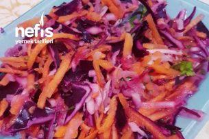Kara Lahana Turp Ve Havuç Salatası Tarifi
