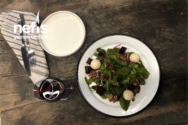 Keçi Peynirli Pancarlı Roka Salatası Tarifi