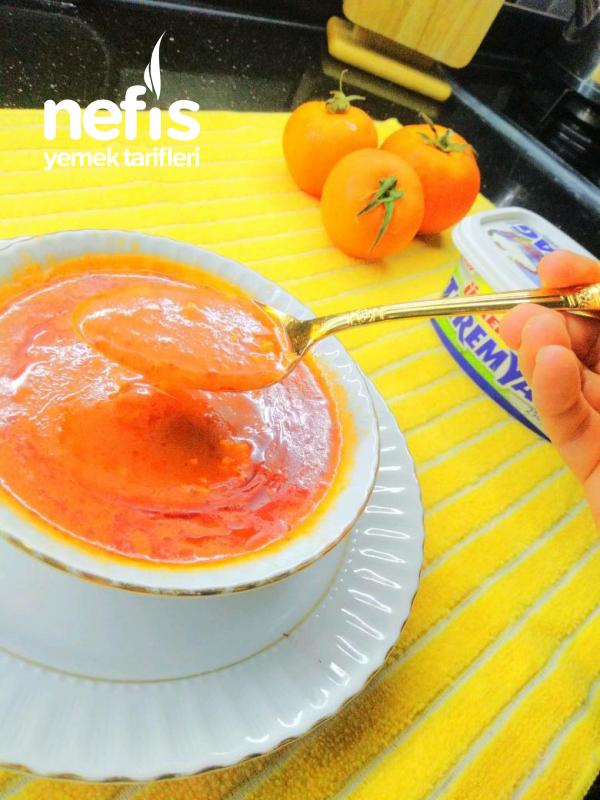 Teremyağlı Domates Çorbası