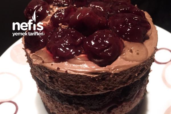 Vişneli Çikolatalı Pasta Tarifi