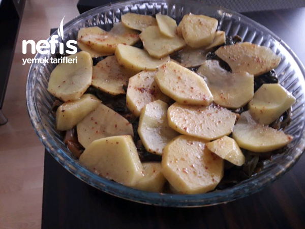 Fırında Ispanaklı Patates