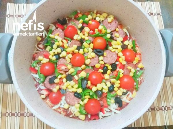 Kahvaltıya Şipşak Tencere Pizzası ( 20dk)