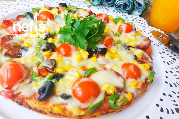 Kahvaltıya Şipşak Tencere Pizzası (20 Dakika)