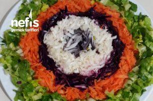 Renkli Kış Salatası Tarifi